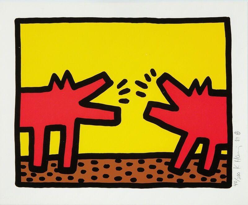 Keith Haring, 'Barking Dogs (Pop Shop IV)', 1989, Print, Silkscreen, Rhodes