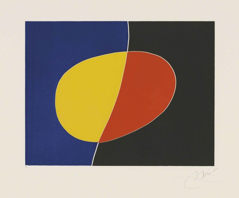 Joan Miró, 'Plate 2 from: Càntic del Sol', 1975, Print, Aquatint in colours on Arches wove paper, Christie's