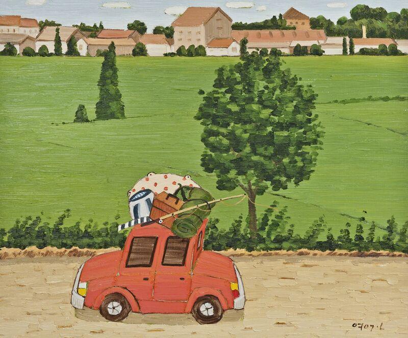 Jun Young Geun, '여행 스위스마을 (Swiss Village Travel)', 2013, Painting, Oil on canvas, Chung Art Gallery