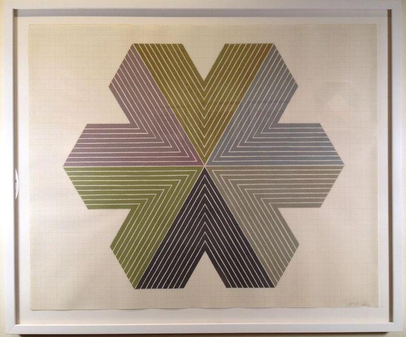 Frank Stella, 'Star of Persia l', 1967, Print, Lithograp. on English Vellum graph paper, Vertu Fine Art