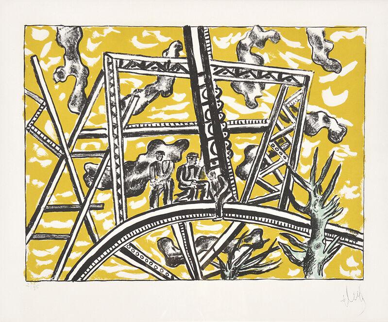 Fernand Léger, 'L'Échafaudage au Soleil (The Scaffold Sun)', 1951, Print, Color Lithograph, Masterworks Fine Art