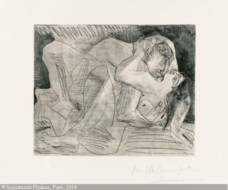 Pablo Picasso, 'Etreinte [Etreinte, IV]', 1963, Print, Etching, drypoint, grattoir, and burin, Marlborough New York