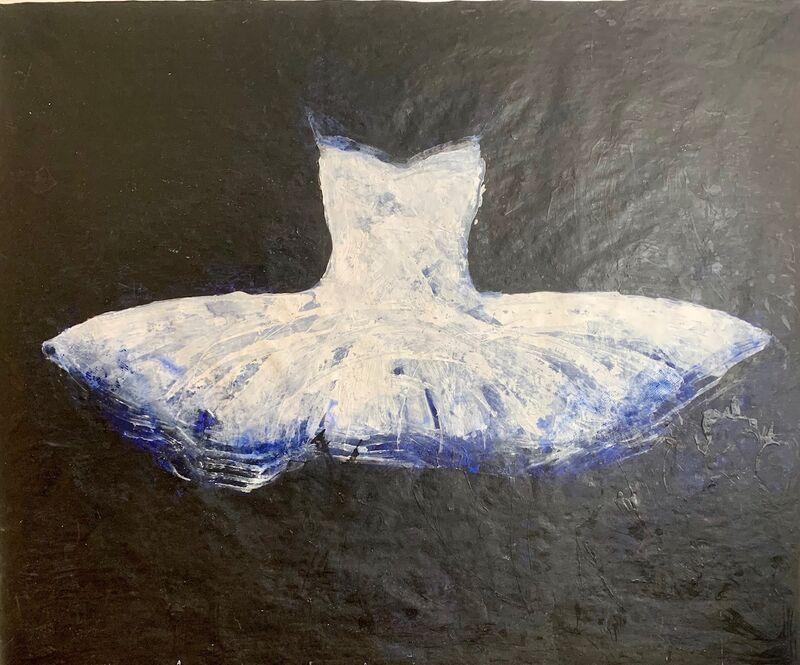 Ewa Bathelier, 'Big White tutu'', 2017, Painting, Acrylic on Fabric, Galleria Ca' d'Oro