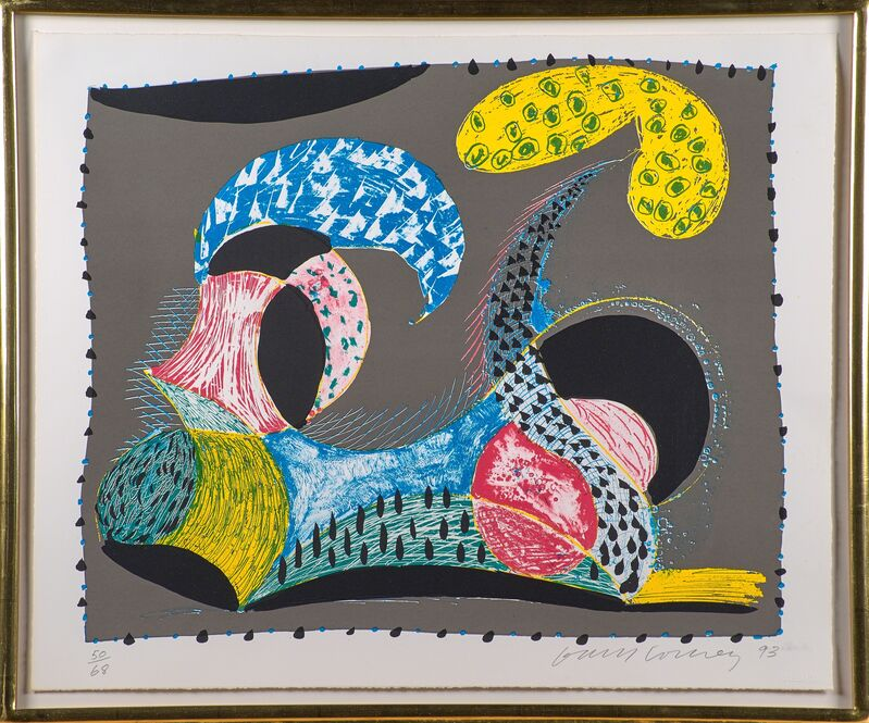 David Hockney, 'Warm Start from Some New Prints', 1993, Print, Lithograph and screenprint in colors (framed), Rago/Wright/LAMA