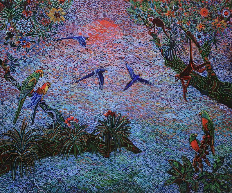 Alfredo Arreguin, 'The Magic Garden', Painting, Oil on canvas, Linda Hodges Gallery
