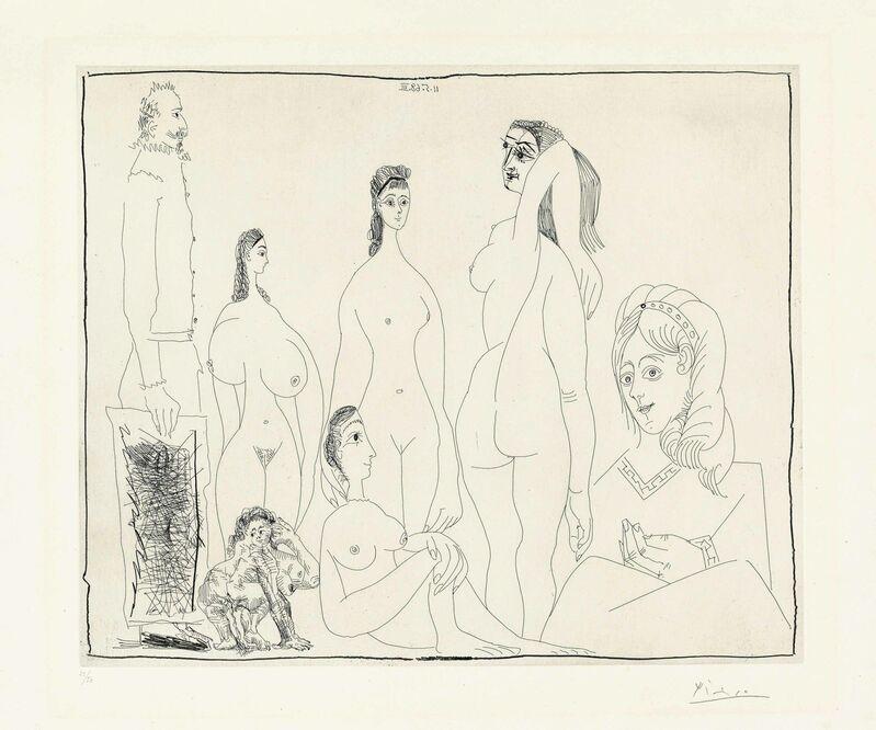 Pablo Picasso, 'Peintre longiligne avec des Femmes, dont une petite Pisseuse, from: Séries 347', 1968, Print, Etching on wove paper, Christie's