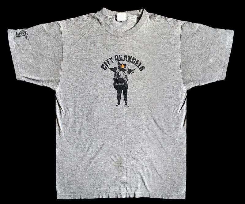 Banksy, 'City Of Angels', 2002, Fashion Design and Wearable Art, Screen print on grey Puma T-Shirt, Tate Ward Auctions