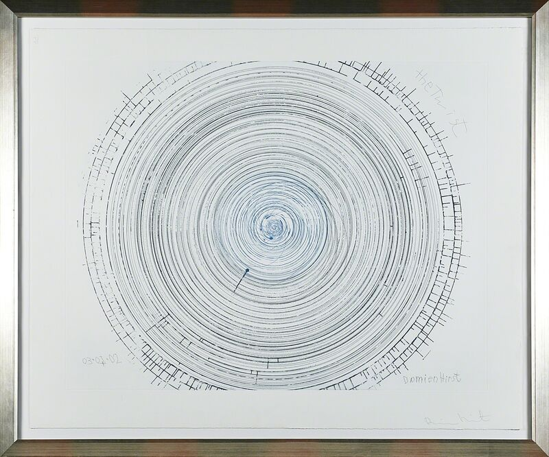 Damien Hirst, 'The Twist from In a Spin, the Action of the World on Things, Volume II', 2002, Print, Etching in colors (framed), Rago/Wright