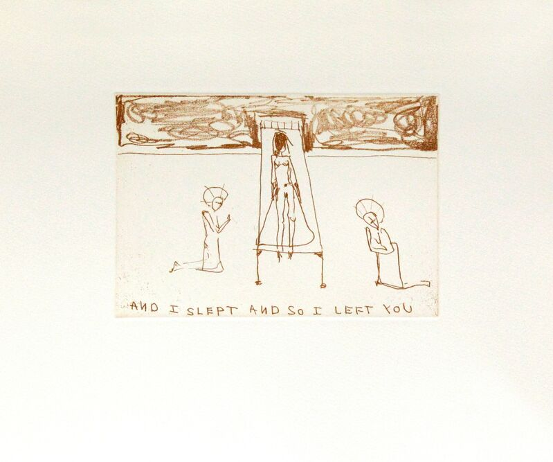 Tracey Emin, 'So I Left You', 2010, Print, Soft ground etching, Royal Academy of Arts