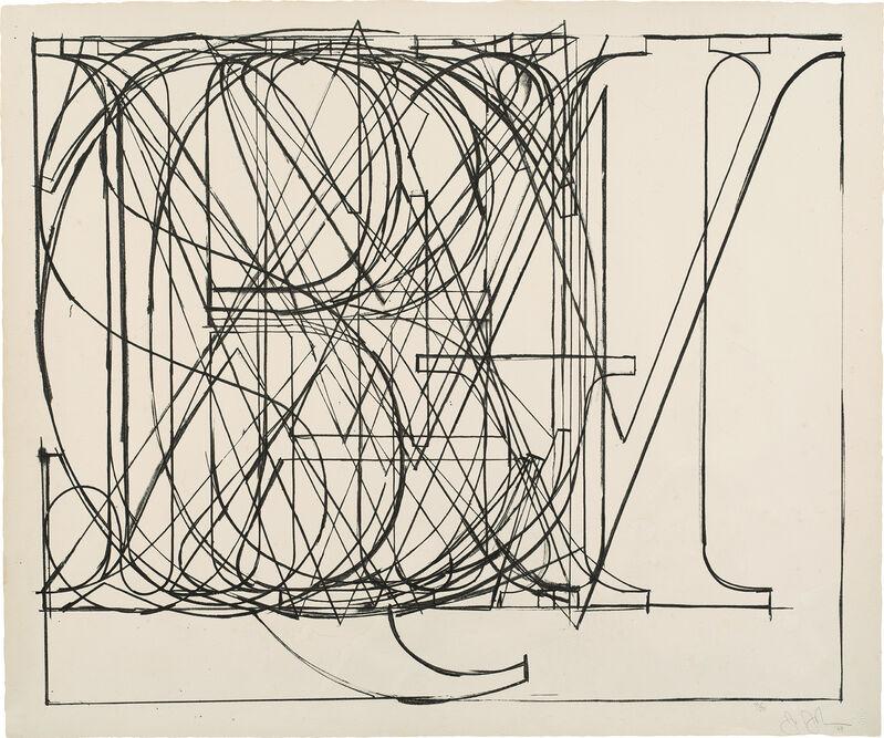 Jasper Johns, 'Alphabet (G. 126, U.L.A.E. 69)', 1969, Print, Lithograph, on Hahnemühle paper, with full margins., Phillips