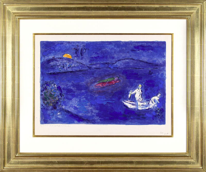 Marc Chagall, 'Daphnis and Chloé: Echo', 1961, Drawing, Collage or other Work on Paper, Mixed media work on Arches paper, hand-painted by the artist, Galerie Michael