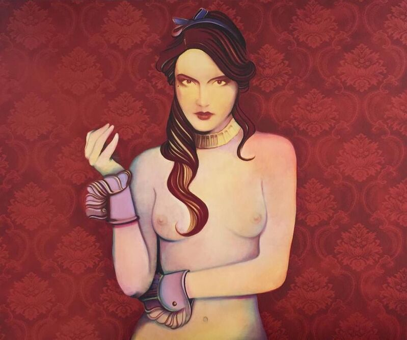 Carlos Prieto, 'Rojo Melancolia II', 2021, Painting, Oil on canvas, Gallery Red