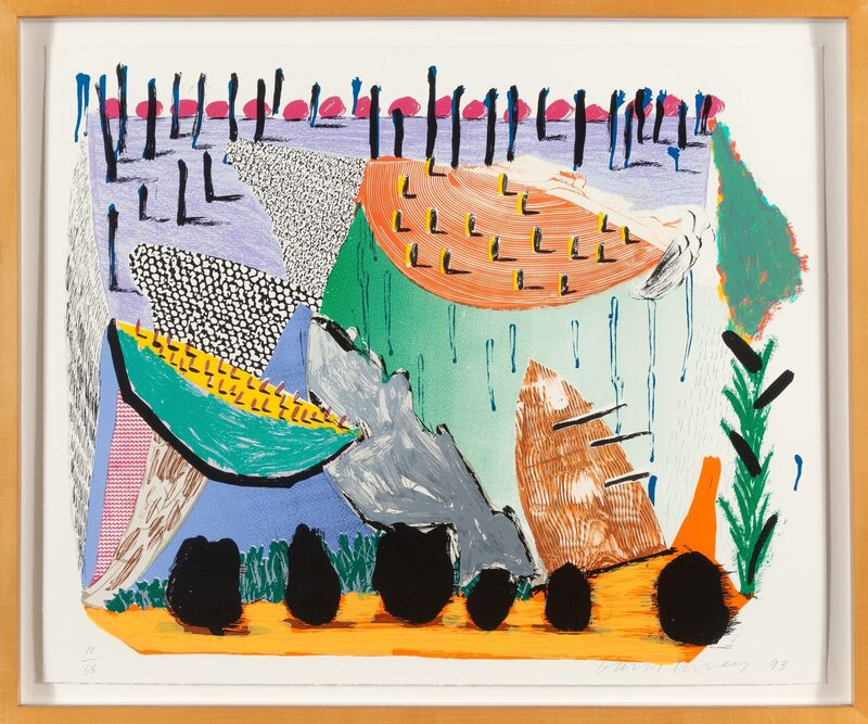 David Hockney, 'Slow Rise', 1993, Print, Serigraph in colors, Heritage Auctions
