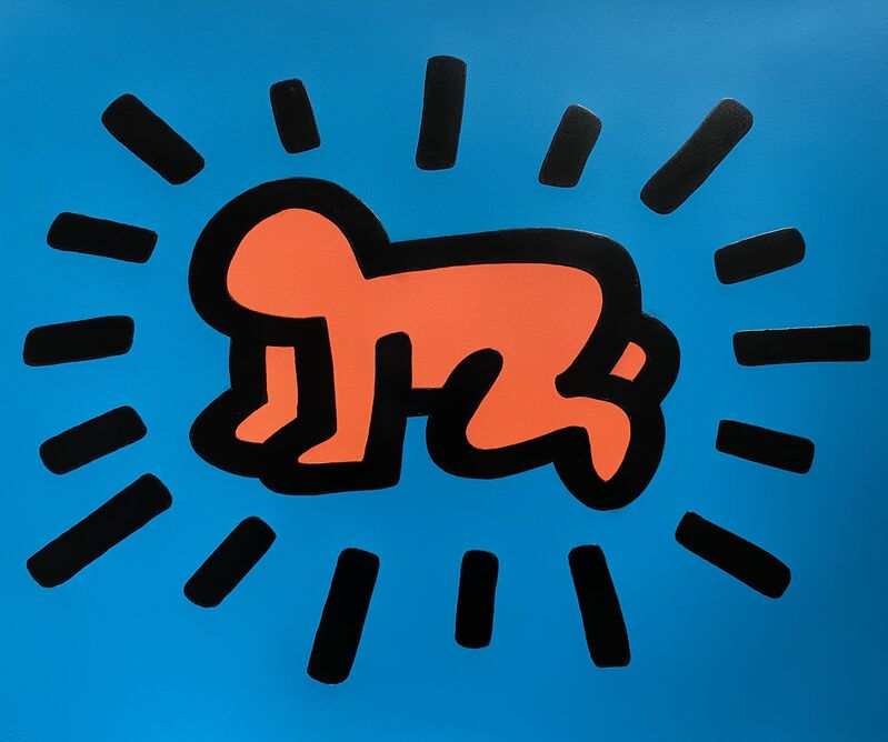 Keith Haring, 'Radiant Baby from Icons Portfolio ', 1990, Print, Silkscreen ink on embossed Arches cover paper, Fine Art Mia