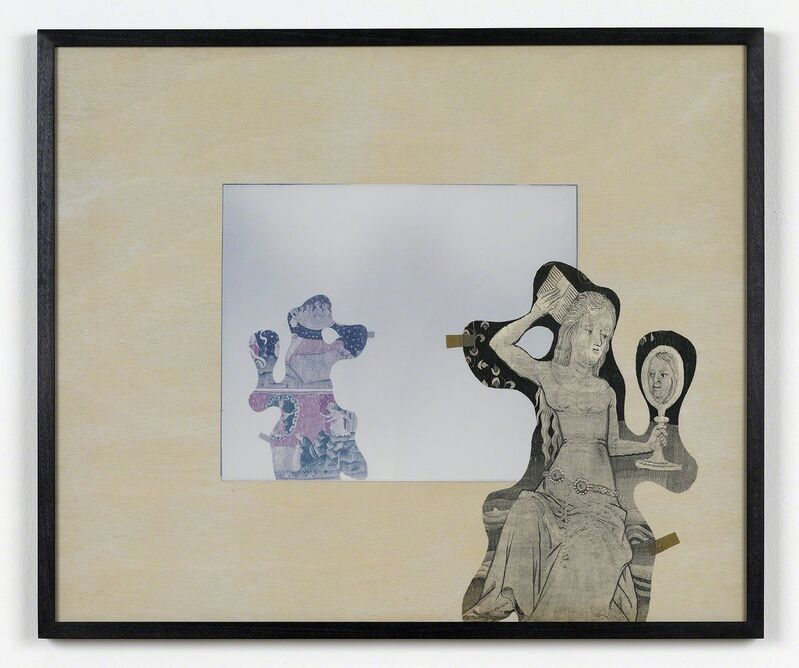 Amikam Toren, 'Mirroring Series 3, No. 4', 1984, Mixed Media, Paper collage, glass, photograph on board, Anthony Reynolds Gallery