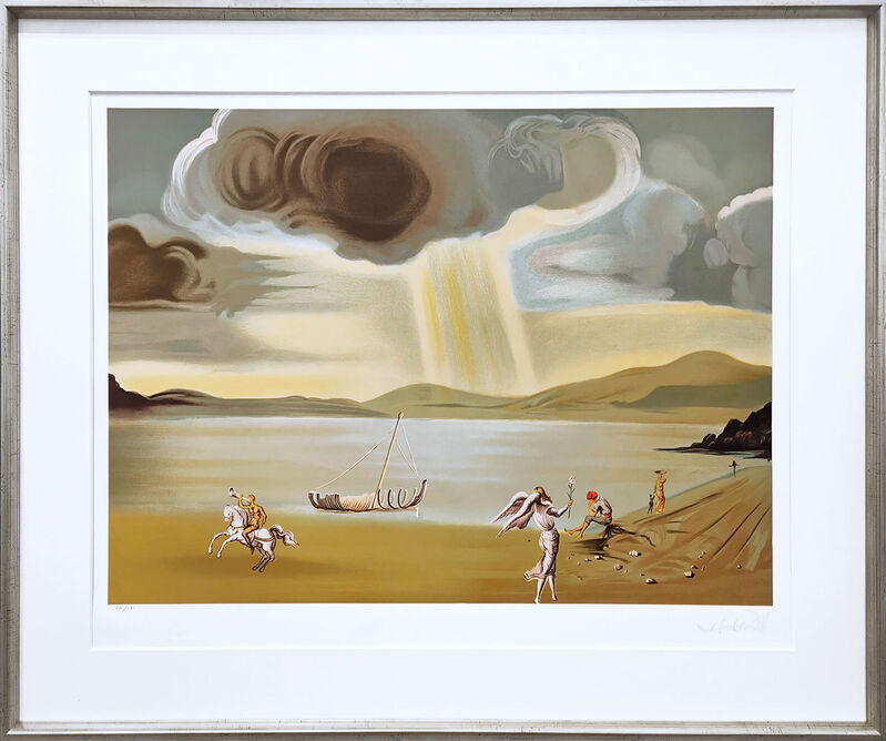 Salvador Dalí, 'Landscape of Port Lligat', 1984, Print, Lithograph in 25 colours on paper, Galerie Kellermann