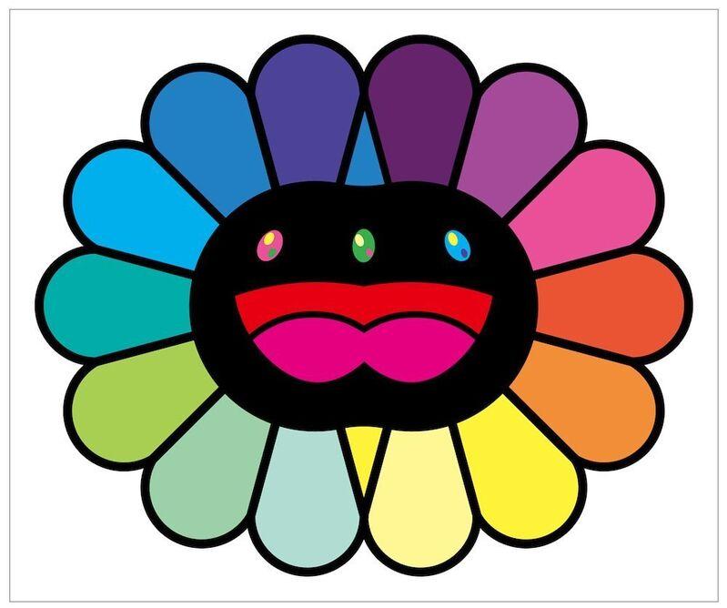 Takashi Murakami, 'MULTICOLOR DOUBLE FACE: BLACK', 2020, Print, Silkscreen, Dope! Gallery