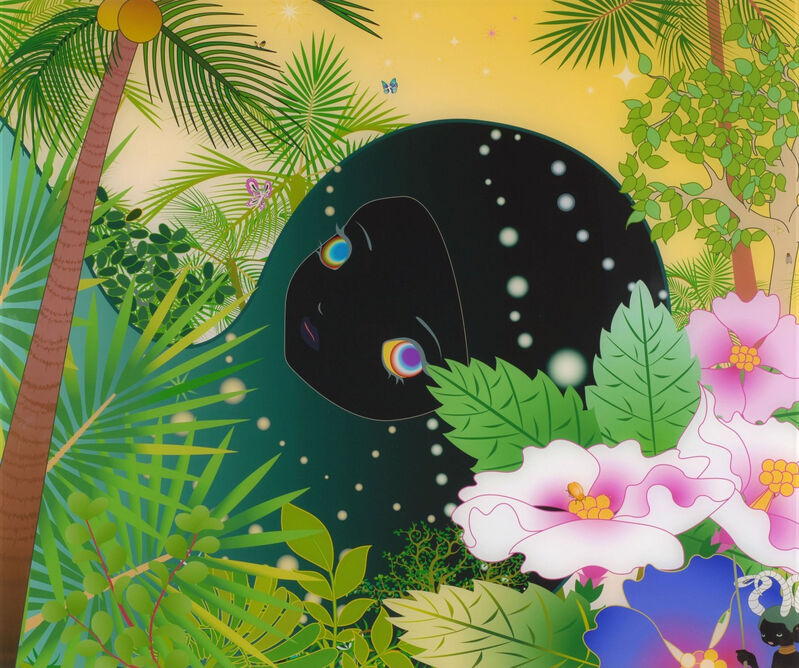 Chiho Aoshima, 'Buildinghead: Palm Trees', 2005, Print, Offset Lithograph, Pinto Gallery