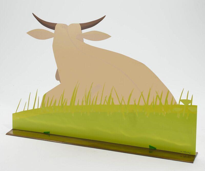Alex Katz, 'Cow (Large)', 2006, Sculpture, Colour silkscreen on aluminium, printed on both sides, Van Ham