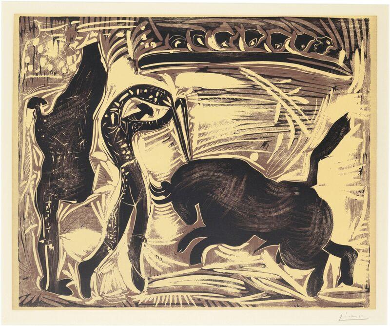 Pablo Picasso, 'Les Banderilles', 1959, Print, Linocut in colors, on Arches paper, Christie's