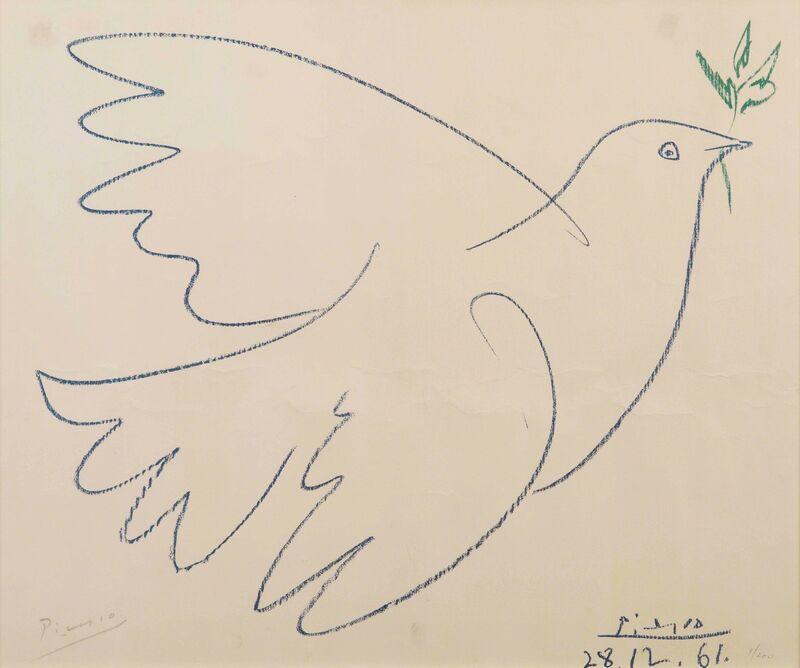 Pablo Picasso, 'Colomba della pace', 1961, Print, Colored lithography, Cambi