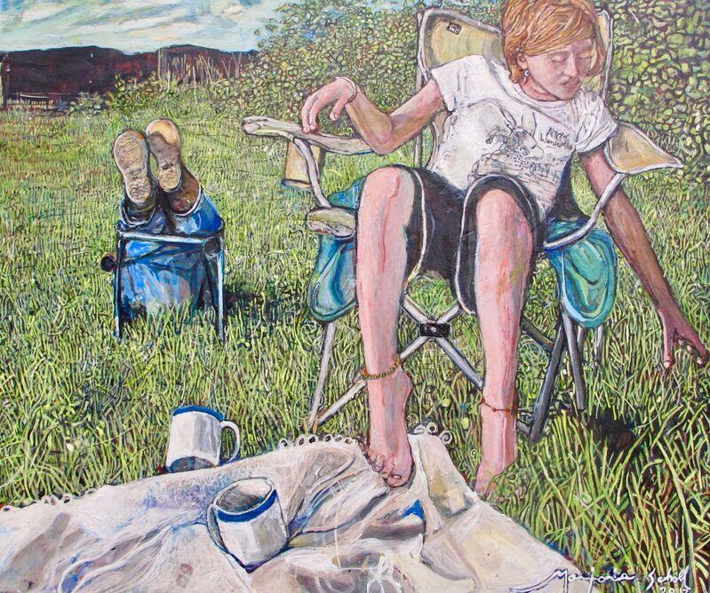 Marjorie Scholl, 'Blades of Grass', 2017, Painting, Acrylic on canvas, McVarish Gallery