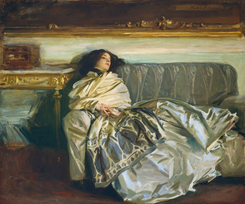 John Singer Sargent, 'Nonchaloir (Repose)', 1911, Painting, Oil on canvas, National Gallery of Art, Washington, D.C.