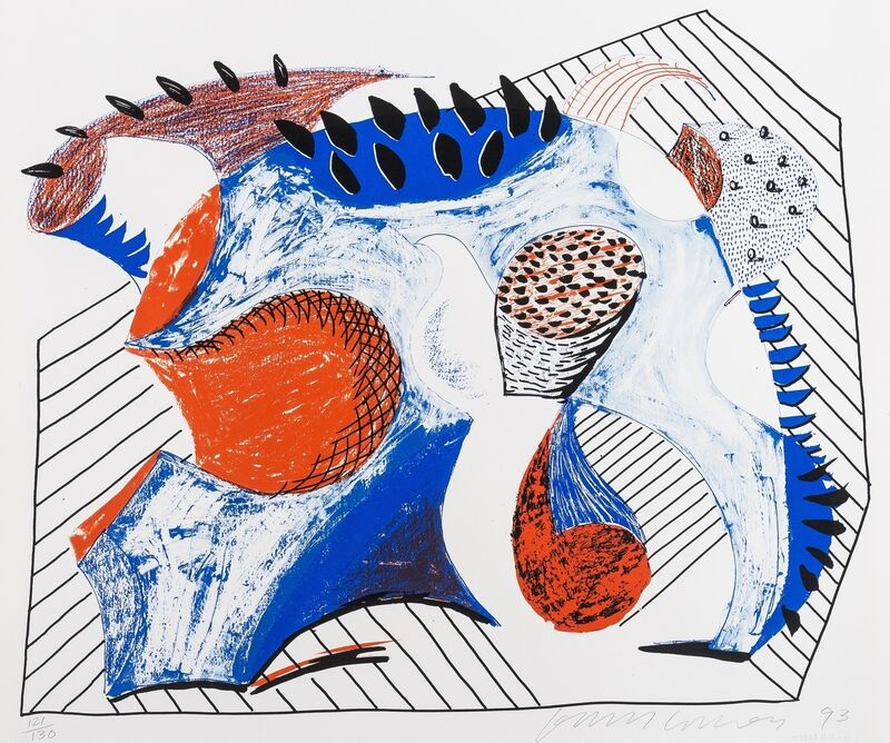 David Hockney, 'Untitled for Joel Wachs', 1993, Print, Lithograph and screenprint in colours, Forum Auctions