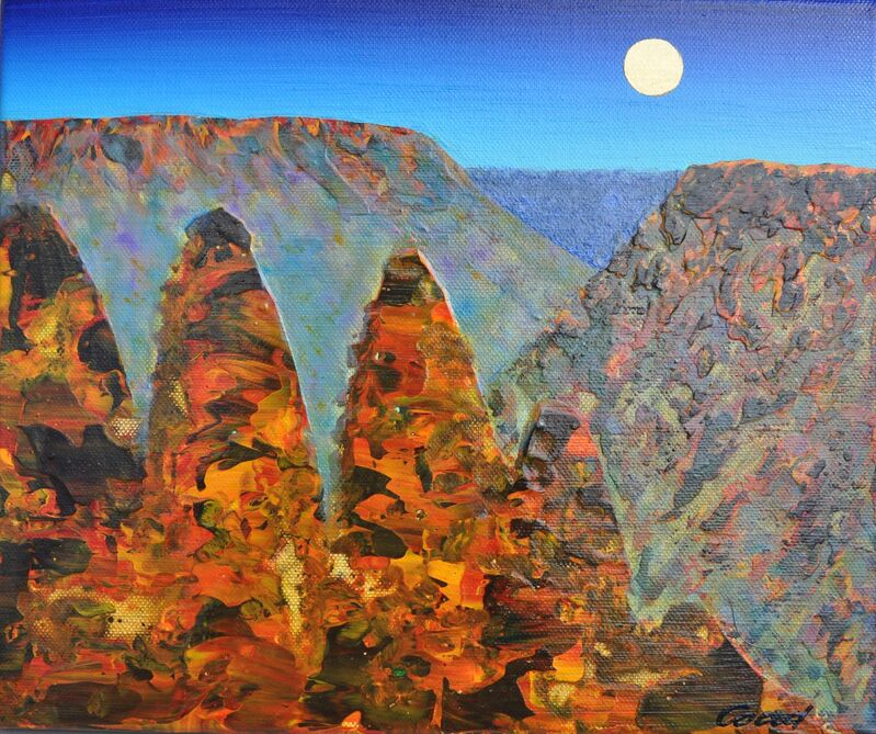 Peter Coad, 'Three Sisters Study - Blue Mountains', 2013-2014, Painting, Mixed Media, Wentworth Galleries