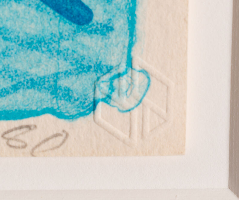 David Hockney, 'Pool Made with Paper and Blue Ink for Book', 1980, Print, Color lithograph, Hindman