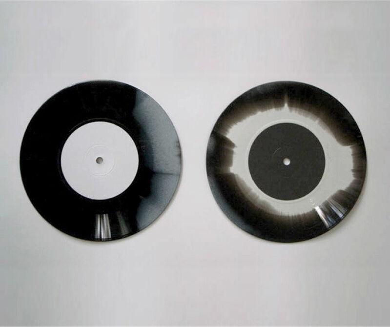 "Jonathan Monk, 'Grey / Gray', 2014, Mixed Media, 7"" Colored vinyl record, CCA Wattis Institute For Contemporary Arts"