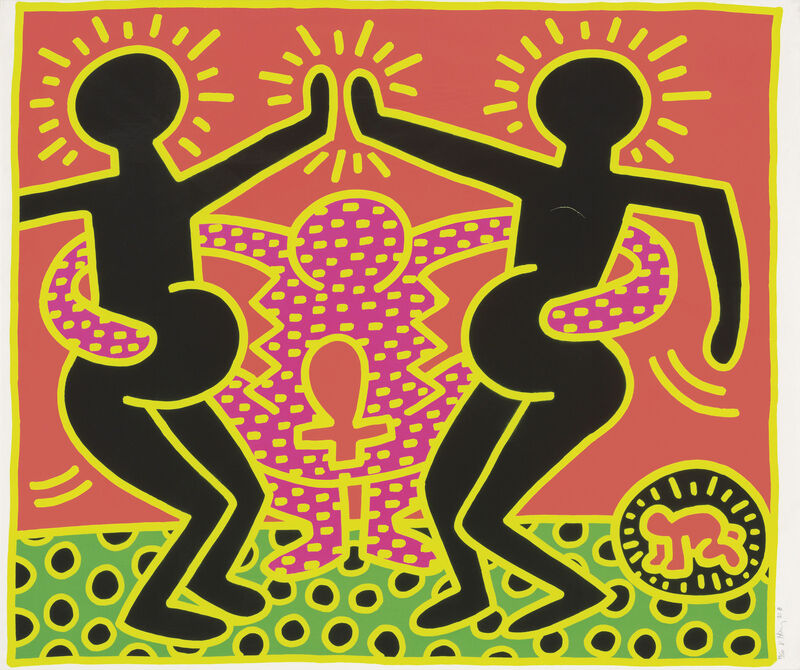 Keith Haring, 'Fertility Suite, Untitled 4', 1983, Print, Screenprint, Maddox Gallery