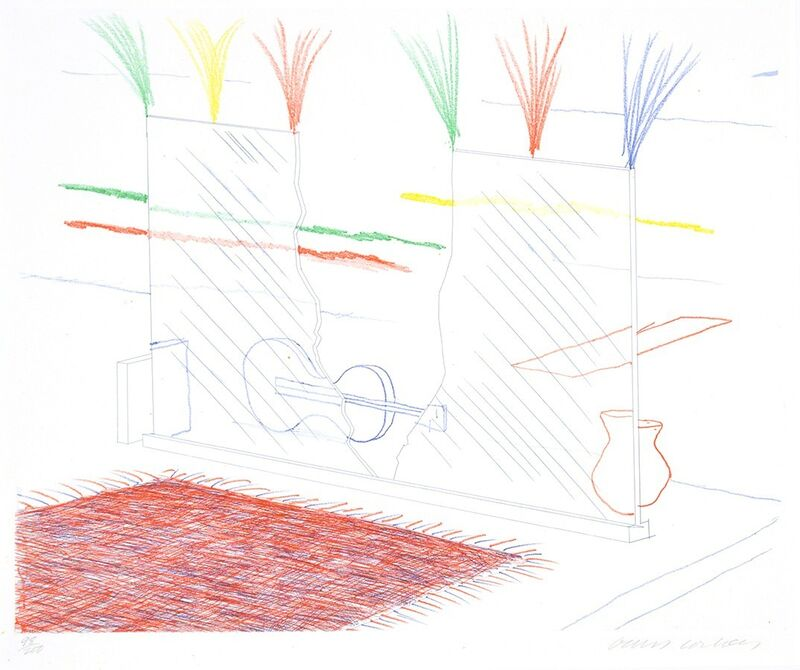 David Hockney, 'On It May Stay His Eye, from The Blue Guitar', 1976-1977, Print, Etching, softground etching, and aquatint on paper, Masterworks Fine Art