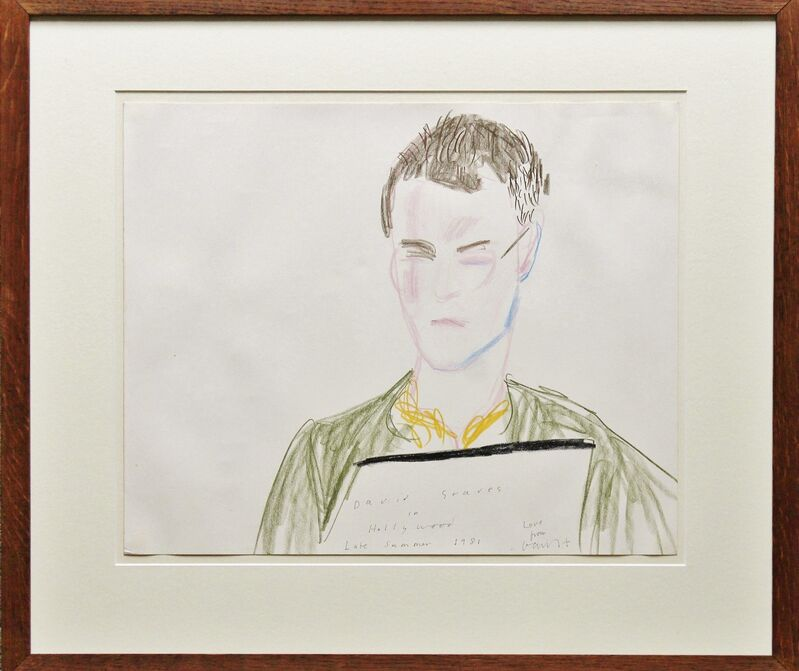 David Hockney, 'David Graves in Hollywood', 1981, Drawing, Collage or other Work on Paper, Pen, ink and crayon on paper, Castlegate House Gallery