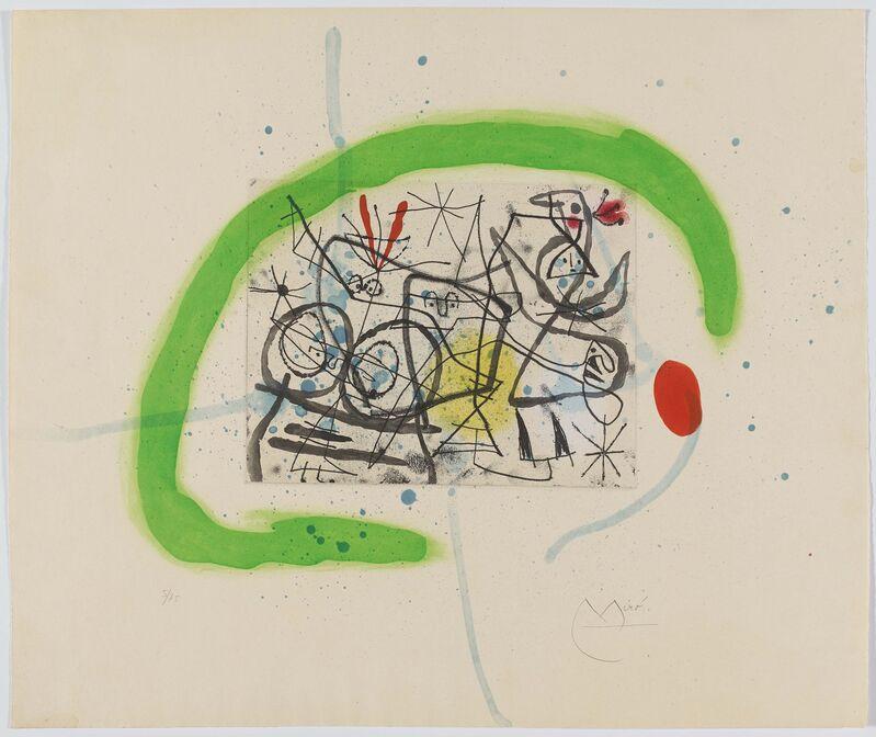Joan Miró, 'Préparatifs d'Oiseaux IV', 1963, Print, Colour aquatint on RIVES (watermark), Van Ham
