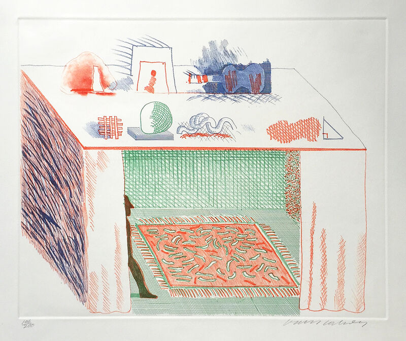 David Hockney, 'In Chiaroscuro', 1976-1977, Print, Etching and Aquatint, Gerrish Fine Art