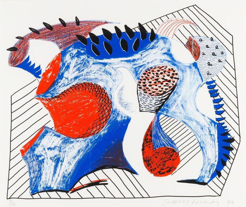 David Hockney, 'Untitled for Joel Wachs', 1993, Print, Lithograph and Screenprint, Christopher-Clark Fine Art