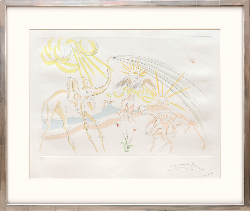 Salvador Dalí, 'Les Animaux Malades de la Peste. (Plague Stricken Animals.)', 1974, Print, Drypoint etching on Arches paper with hand colouring by pochoir, Peter Harrington Gallery