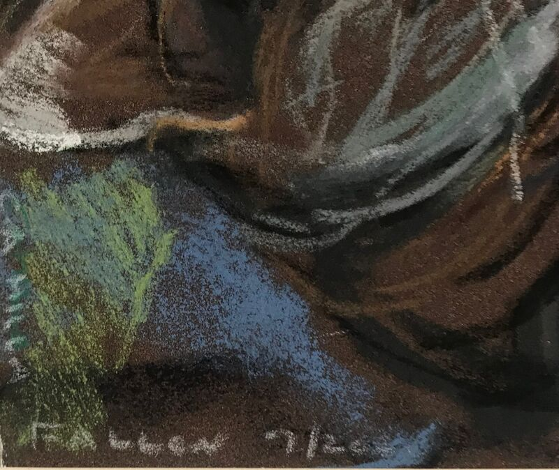 Camilla Fallon, 'Bluebell', 2020, Drawing, Collage or other Work on Paper, Pastel on Sennelier Pastel Card. Hand signed and dated. Unframed., Alpha 137 Gallery