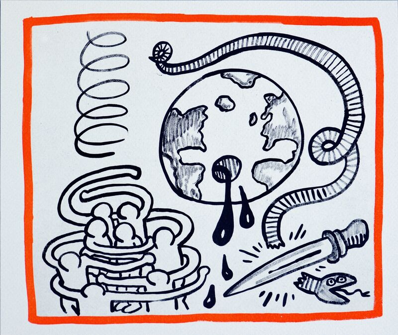 Keith Haring, 'Keith Haring Against All Odds lithograph 1990', 1990, Print, Offset lithograph on Rives paper, Lot 180