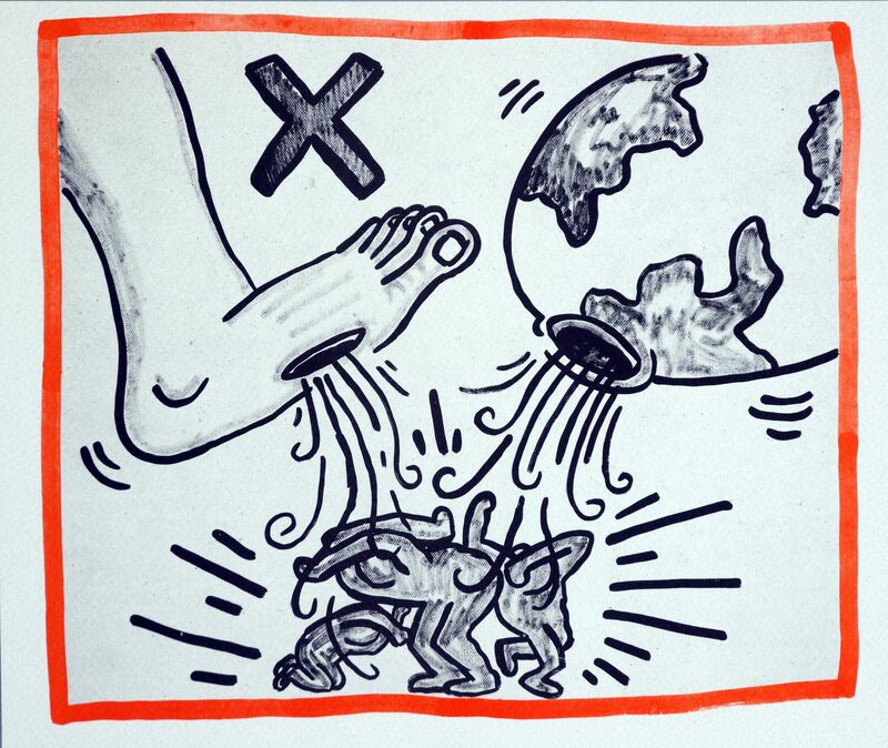 Keith Haring, 'Keith Haring Against All Odds lithograph 1990', 1990, Posters, Offset lithograph on Rives paper, Lot 180