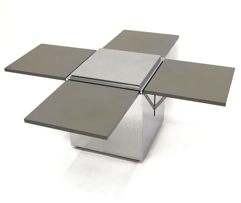 Karl Springer, 'Custom Coffee Table', ca. 1980s, Design/Decorative Art, Lacquered and polished steel., Patrick Parrish Gallery