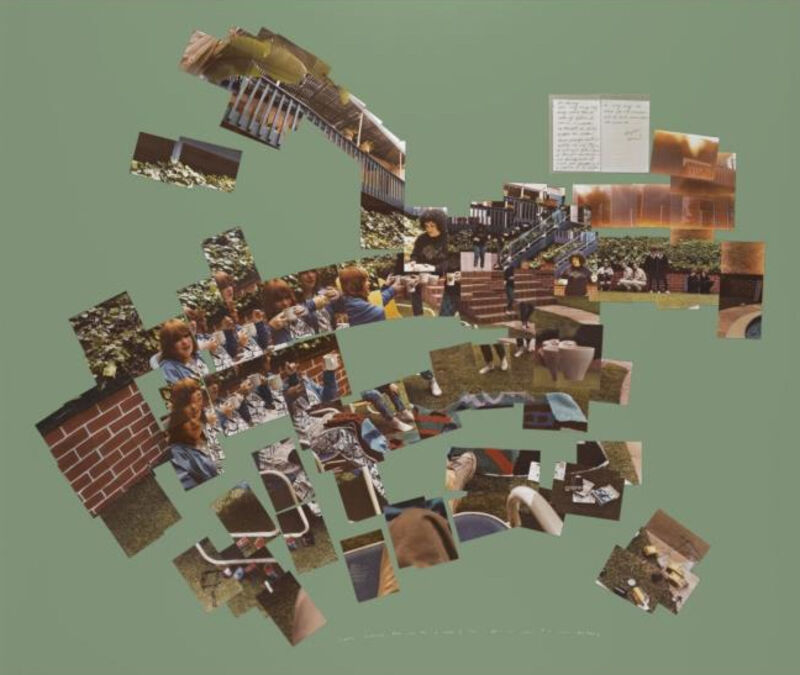 David Hockney, 'Freda Bringing Ann & me a cup of tea ', 1983, Photography, Photo collage on paper, Corridor Contemporary