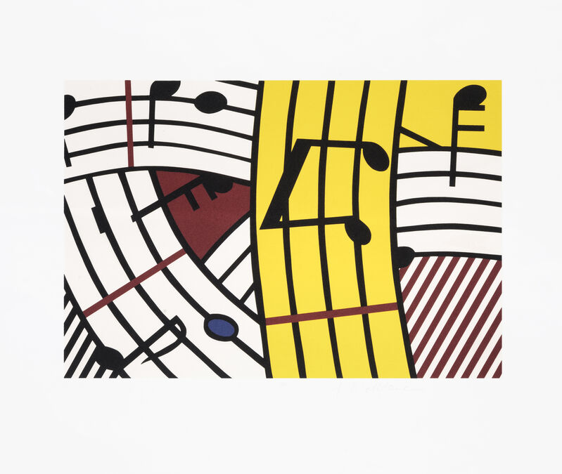 Roy Lichtenstein, 'Composition IV', 1995, Print, Screenprint in colours on BFK Rives paper, Tate Ward Auctions