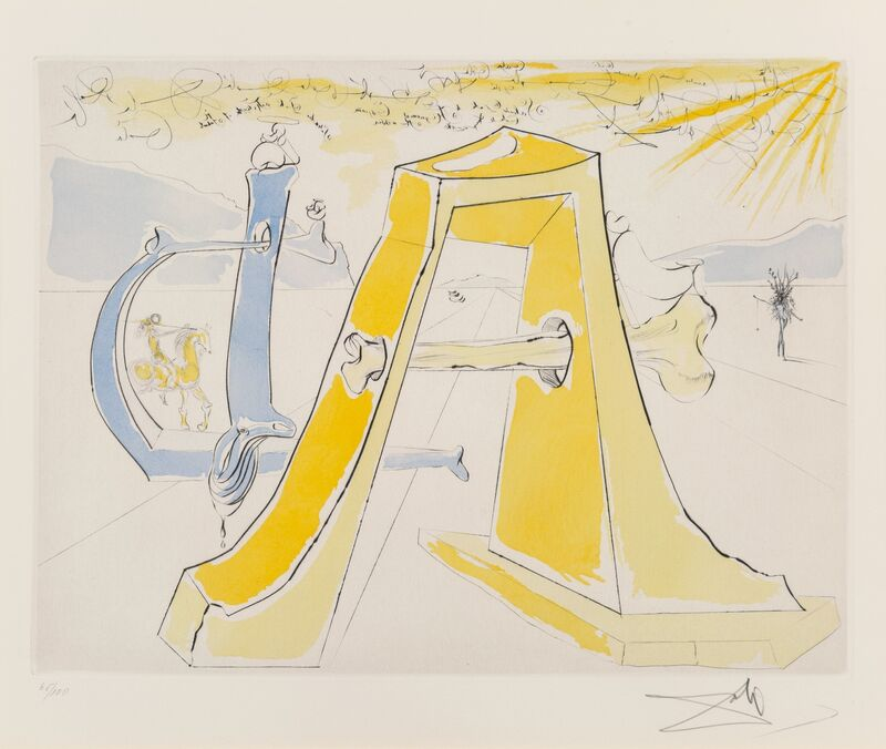 Salvador Dalí, 'Hommage a Dürer, from Hommage a Albrecht Dürer', 1972, Print, Engraving in colors on wove paper, Heritage Auctions