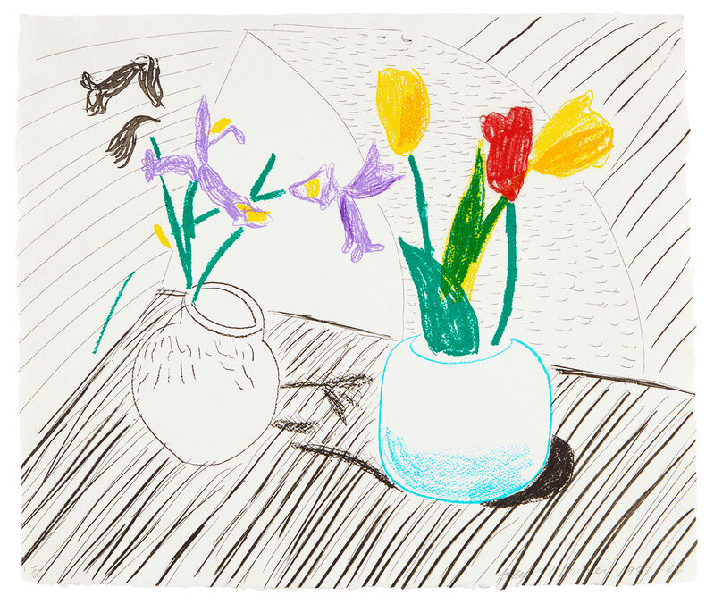 David Hockney, 'White Porcelain', ca. 1985, Print, Lithograph, etching and aquatint in colors, on handmade paper, Oliver Clatworthy