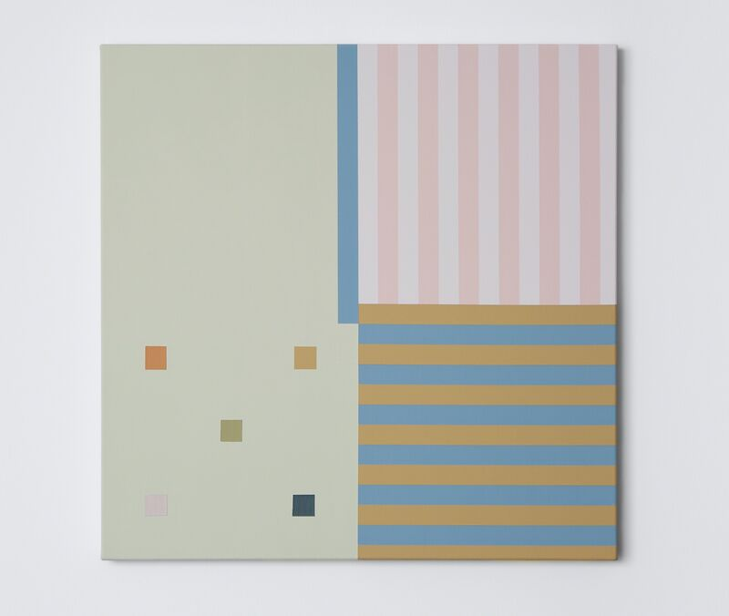 Aaron Kaveh Ossia, ' Untitled (pistachio, penis & policy)', 2018, Painting, Acrylic on canvas, Alfa Gallery