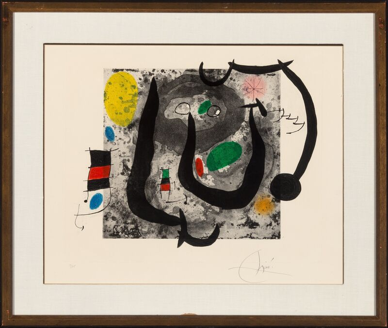 Joan Miró, 'Les Armes du Sommeil', 1970, Print, Etching and aquatint in colors with carborundum on Mandeure rag paper, Heritage Auctions