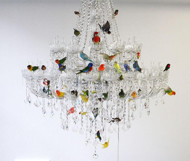 Sebastian Errazuriz, 'Lampara de lagrimas', 2013, Design/Decorative Art, Crystal, metal, and taxidermy, Cristina Grajales Gallery