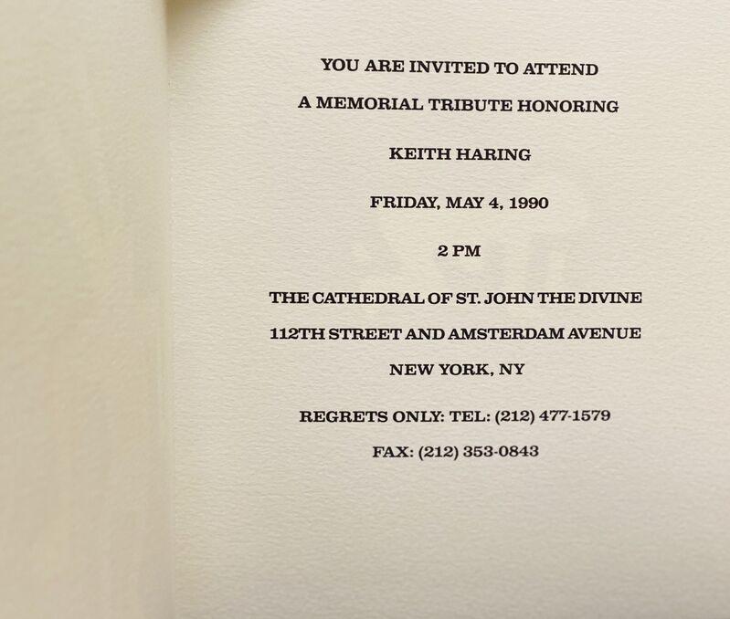 Keith Haring, 'Keith Haring Memorial Invitation ', 1990, Ephemera or Merchandise, Silkscreen printed announcement, Lot 180